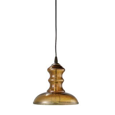 Saint Croix 1-Light Mini Pendant Shade Color: Amber
