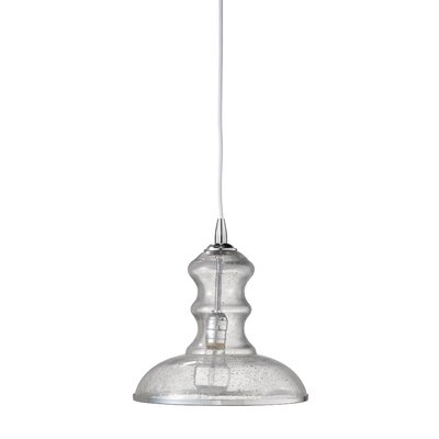 Saint Croix 1-Light Mini Pendant Shade Color: Clear