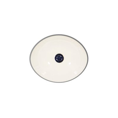 Antigua Ceramic Oval Undermount Bathroom Sink with Overflow