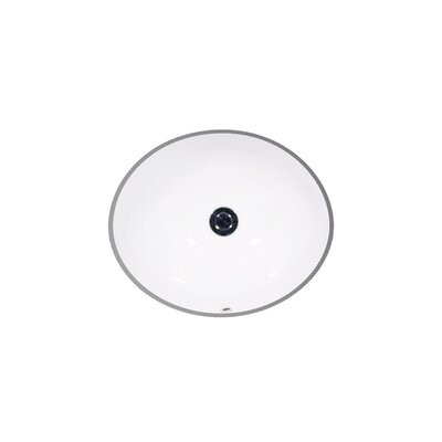 Vanity Ceramic Oval Undermount Bathroom Sink with Overflow Size: 8.62