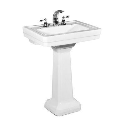 Richmond Ceramic 25 Pedestal Bathroom Sink with Overflow