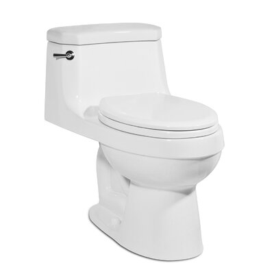 Palermo 1.28 GPF Elongated One-Piece Toilet Finish: White