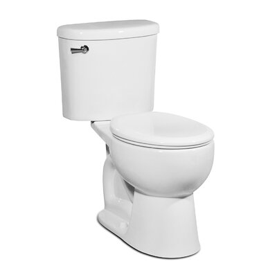Palermo 1.28 GPF Round Two-Piece Toilet Finish: White
