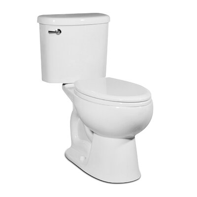 Palermo 1.28 GPS Elongated Two-Piece Toilet Finish: White
