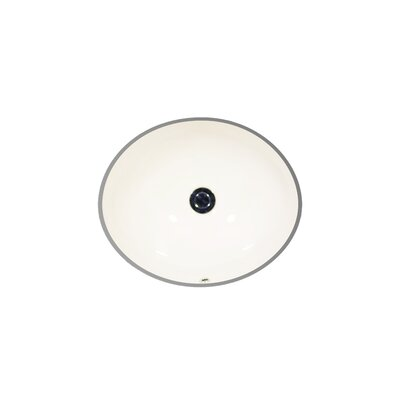 Vanity Vitreous China Oval Undermount Bathroom Sink Sink Finish: Balsa