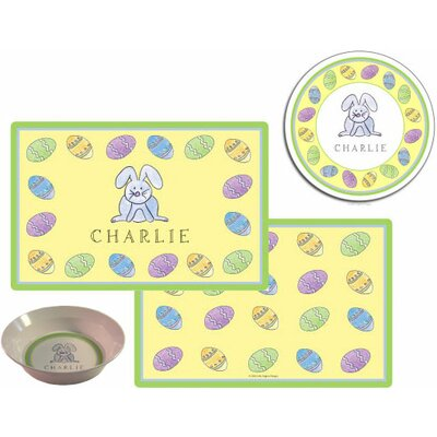 The Kids Tabletop 2 Piece Happy Easter  Placemat Set set814