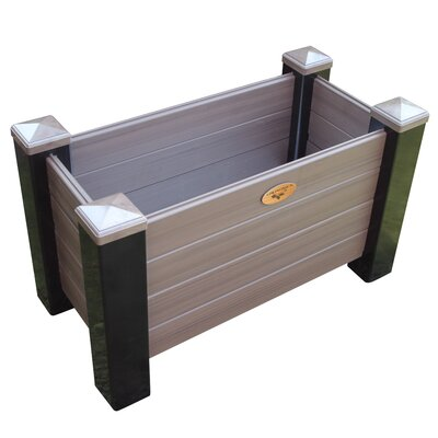 "Maintenance Vinyl Planter Box Color: Black/Walnut, Size: 20"" H x 36"" W x 18"" D MFPB 18-36 BW"