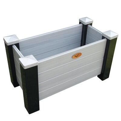 "Maintenance Vinyl Planter Box Color: Black/Walnut, Size: 20"" H x 48"" W x 18"" D MFPB 18-48 BW"