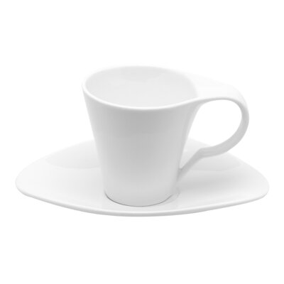 Red Vanilla Vanilla Fare Espresso 3 oz. Cup and Saucer FK003-213/6