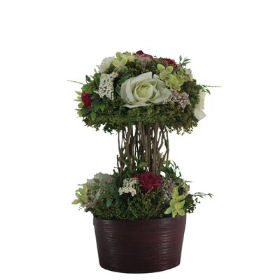 Mixed Rose Centerpiece in Planter