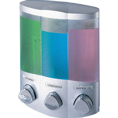 Euro Trio Dispenser with Translucent Container Finish: Satin Silver