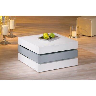 Tavolino salotto tavolo moderno bianco e grigio lucido for Salotto grigio