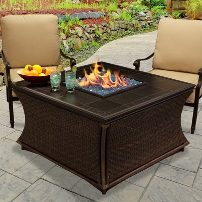 Mendocino Propane Fire Pit Table Finish: Gold