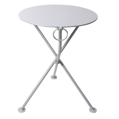 French Caf� Folding Bistro Table Base Finish: Jet Black, Table Size: 24 L x 24 W