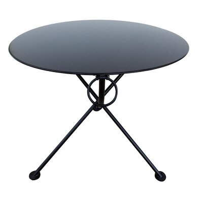 French Caf� Folding Bistro Table Base Finish: Jet Black, Table Size: 34 L x 34 D