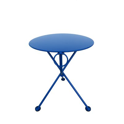 French Caf� Folding Bistro Table Table Size: 24 L x 24 W, Base Finish: Signal Blue