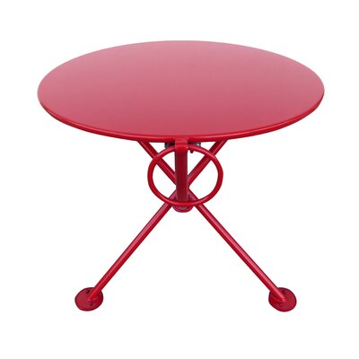 French Caf� Folding Coffee Table Base Finish: Flame Red