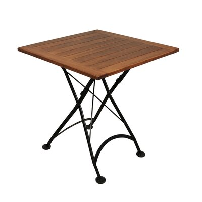 European Caf� Bistro Table Table Size: 28 x 28