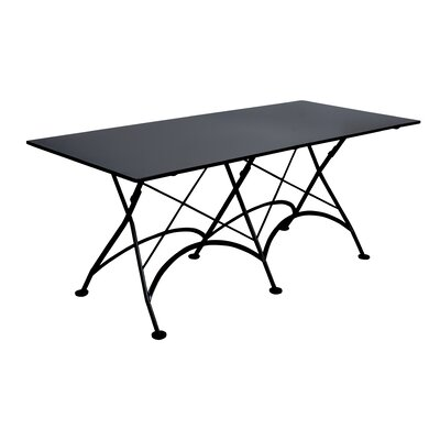 European Caf� Folding Table Finish: Satin/Half-matte