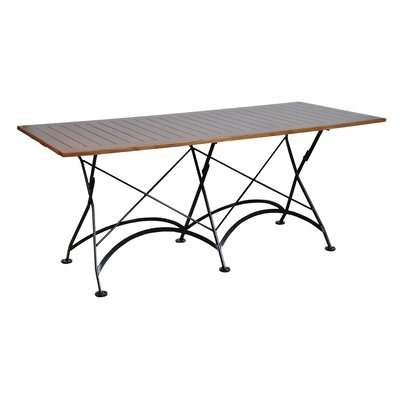 European Caf� Folding Table Finish: Chestnut