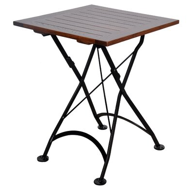 European Caf� Bistro Table Table Size: 24 x 24