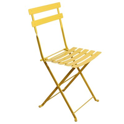 Furniture Designhouse French Bistro European Caf� Folding Side Chair - Frame Color: Zinc Yellow (Set of 2) at Sears.com
