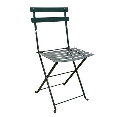 Furniture Designhouse French Bistro European Caf� Folding Side Chair - Frame Color: Black Green (Set of 2) at Sears.com