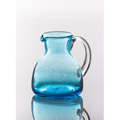 Bubble Pitcher with Clear Handle Finish: Sea Blue