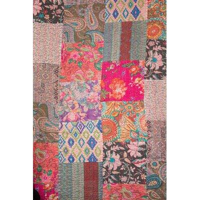 Kantha Patchwork Quilt Size: 60 H x 60 W