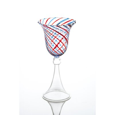 Swirl All Purpose Wine Glass Color: Red/Blue 725337