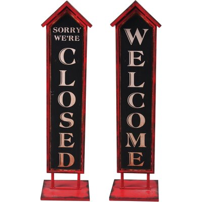 Closed Welcome Reversible