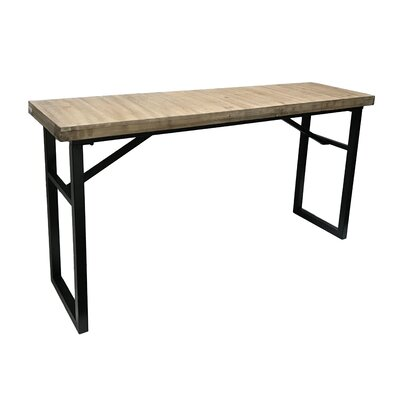 Calie Rectangle Wood Console Table