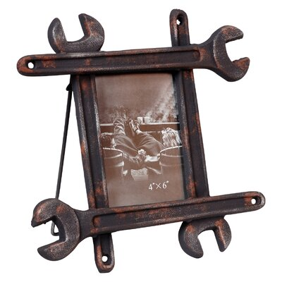 low price wilco distressed wrench tabletop easel picture frame - Wrench Picture Frame