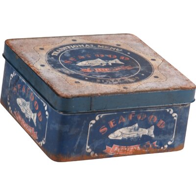 Square Tin Can Metal Box