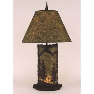 Mountain Scene 29 H Table Lamp with Empire Shade