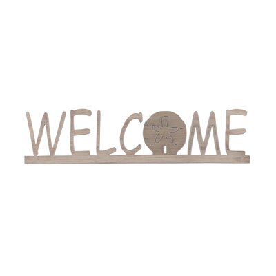 Welcome Sign with Sand Dollar Accent