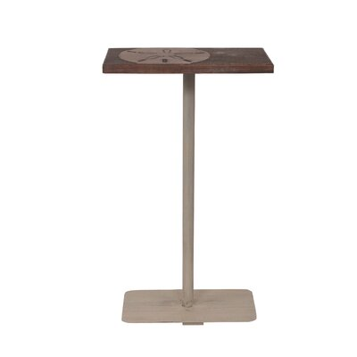 Isenhour Sand Dollar Accent Wood Top End Table