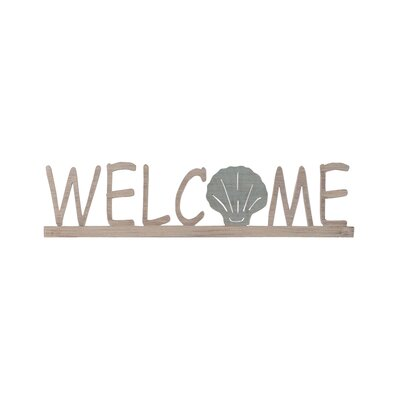Welcome Sign with Shell Accent