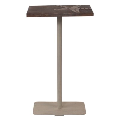 Cottage Wood Top End Table