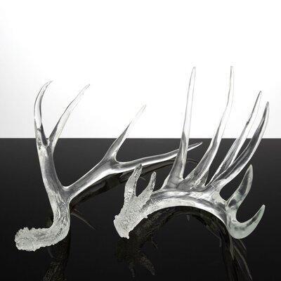 Clear Antlers Sculpture Set CTST4936C