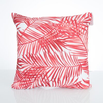 Palm Fronds Outdoor Throw Pillow Size: 20 H x 20 W x 2 D, Color: Coral