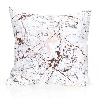 Marble Vein Outdoor Throw Pillow Size: 20 H x 20 W x 2 D, Color: Brown