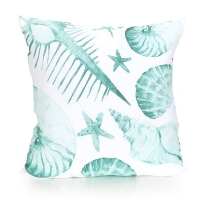 Sea Life Outdoor Throw Pillow Size: 20 H x 20 W x 2 D, Color: Mint