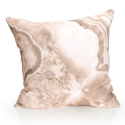 Quartz Outdoor Throw Pillow Size: 20 H x 20 W x 2 D, Color: Brown
