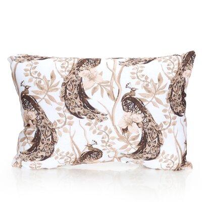 Peacock Outdoor Lumbar Pillow Color: Brown
