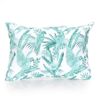 Tropical Parrot Outdoor Lumbar Pillow Color: Mint