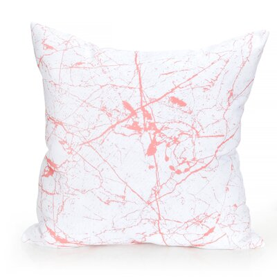 Marble Vein Outdoor Throw Pillow Size: 20