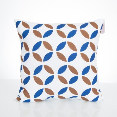 Mod Circles Outdoor Throw Pillow Size: 20 H x 20 W x 2 D, Color: Blue/Brown