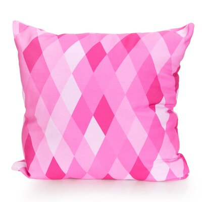 Harlequin Outdoor Throw Pillow Size: 26 H x 26 W x 2 D, Color: Fuchsia