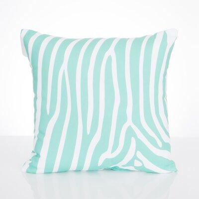 Zebra Outdoor Throw Pillow Size: 20 H x 20 W x 2 D, Color: Mint
